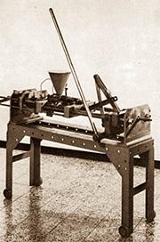Erste Maschine der Kunststoffverarbeitung Winter in Hainstadt