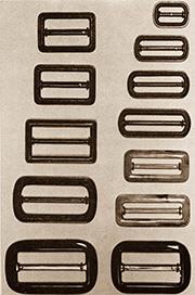 Gürtelschnallen aus Kunststoff in verschiedenen Größen