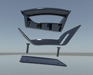 Prototyp-Einzelteile der Kunststoffverarbeitung Winter