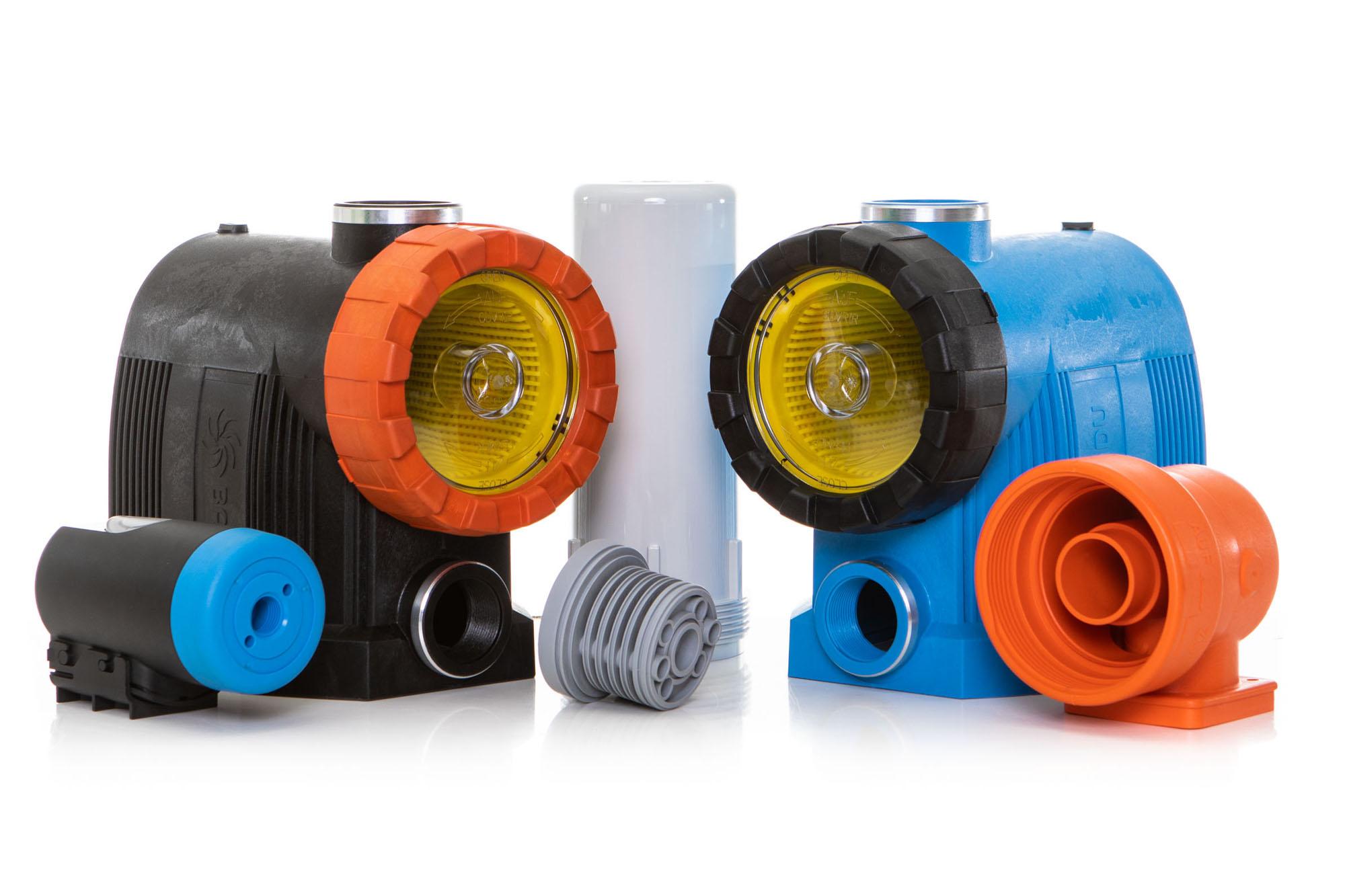 Produktpalette der Kunststoffverarbeitung Winter für Pumpentechnik